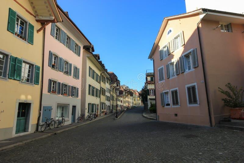 Vie e costruzioni da Aarau, Svizzera immagini stock