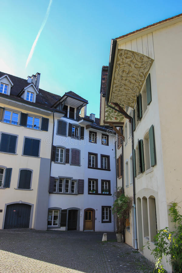 Vie e costruzioni da Aarau, Svizzera immagine stock libera da diritti