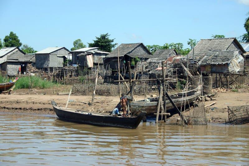 Vie le long du delta du Mékong images stock
