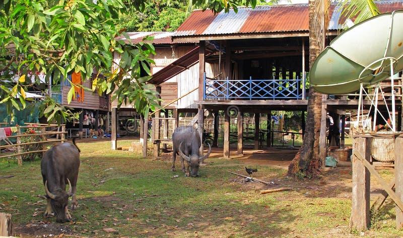 Vie locale au Laos image libre de droits