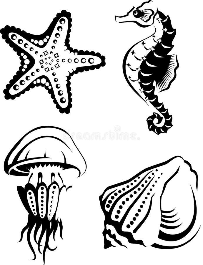 Vie marine illustration stock
