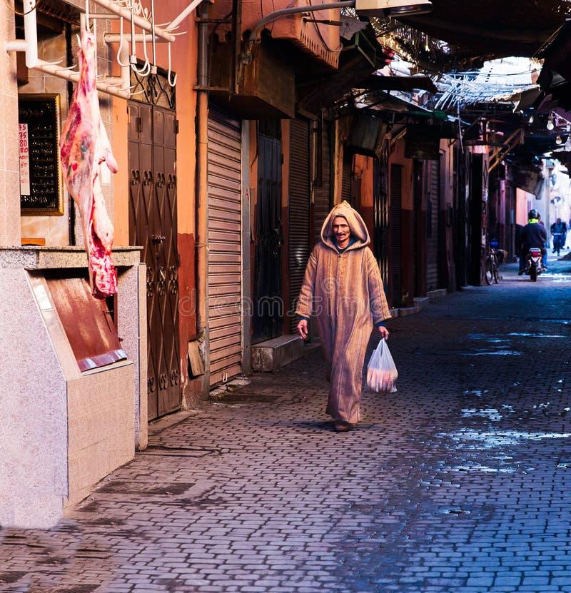 Vie a Marrakesh Medina fotografia stock
