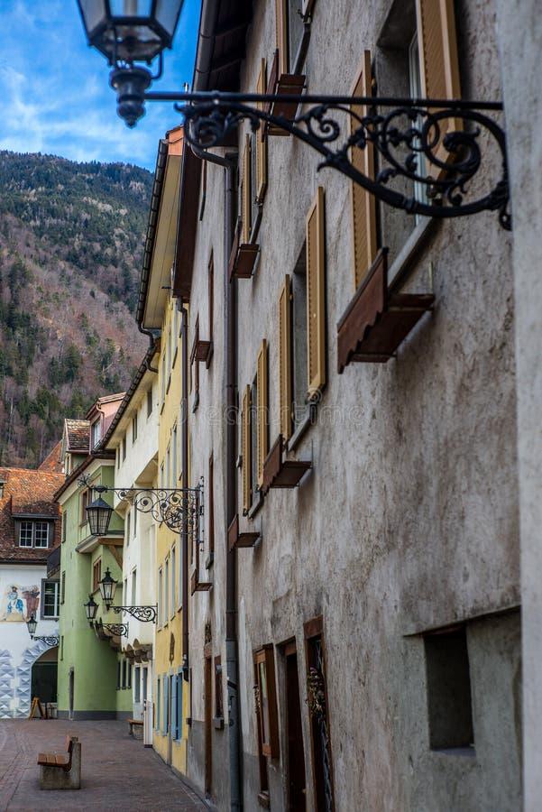 Vie medievali in Chur in Svizzera - 3 fotografia stock