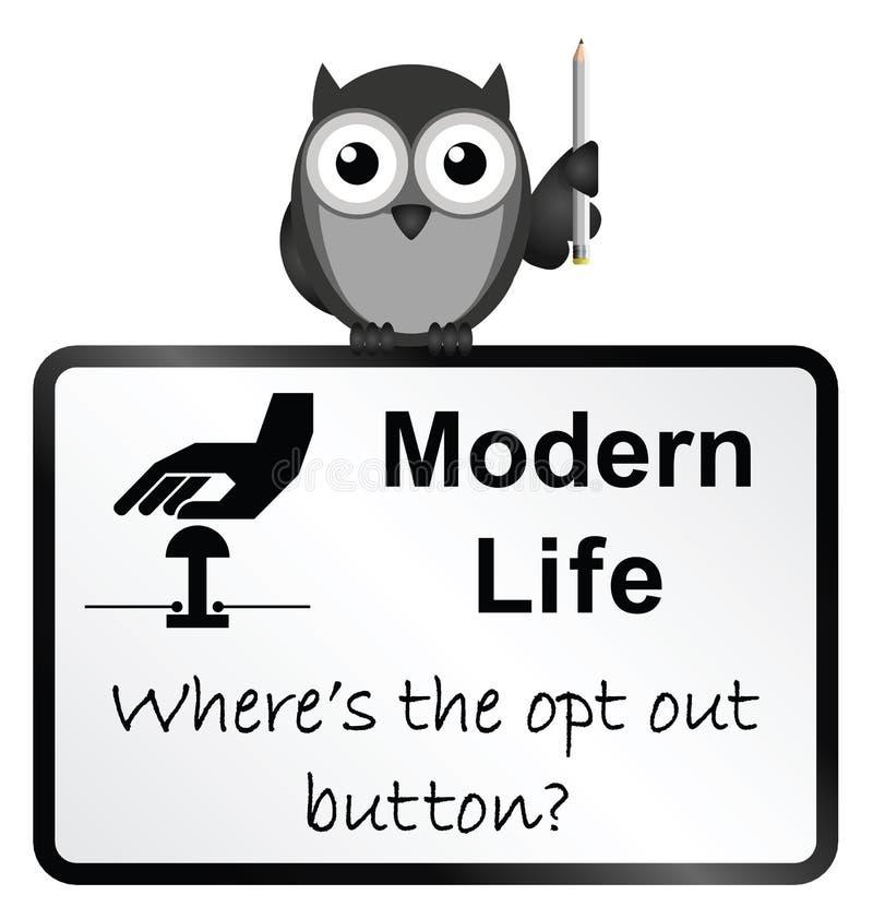 Vie moderne illustration stock
