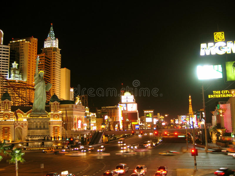 Vie nocturne dans la bande de Las Vegas, Las Vegas, Nevada, Etats-Unis photo stock