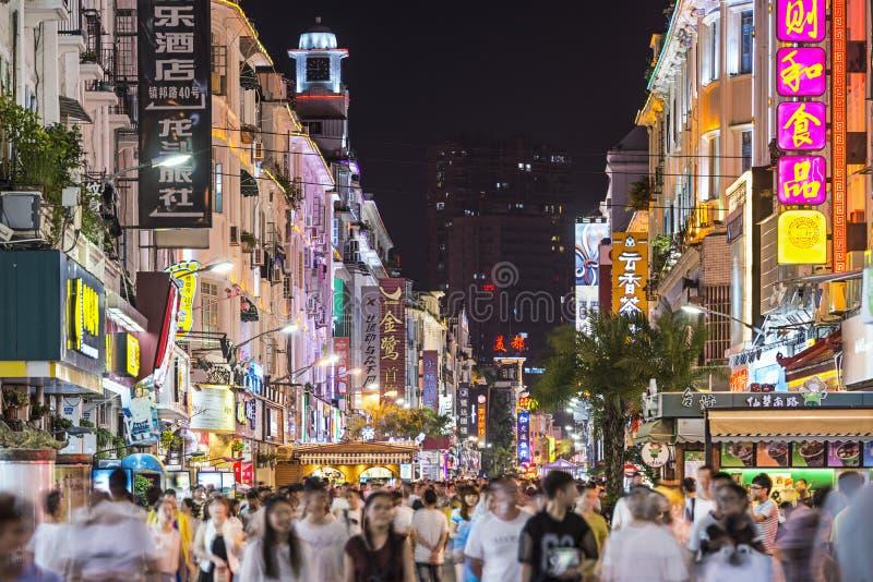 Vie nocturne de Xiamen, Chine image libre de droits