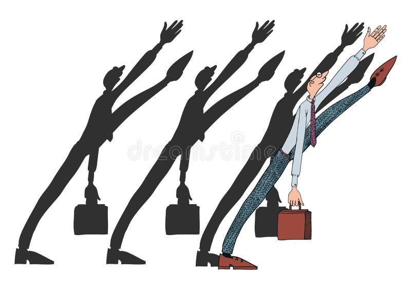 Vie quotidienne d'un employé de bureau illustration stock