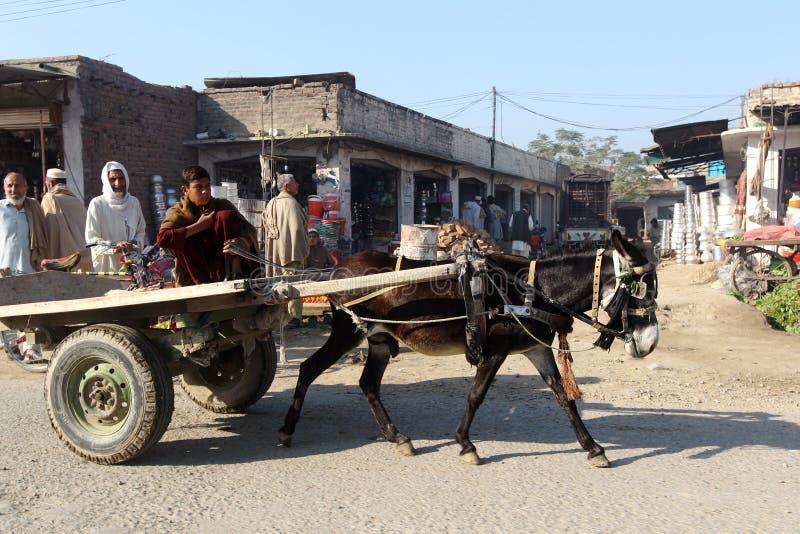 Vie quotidienne en vallée de coup, le Pakistan images libres de droits