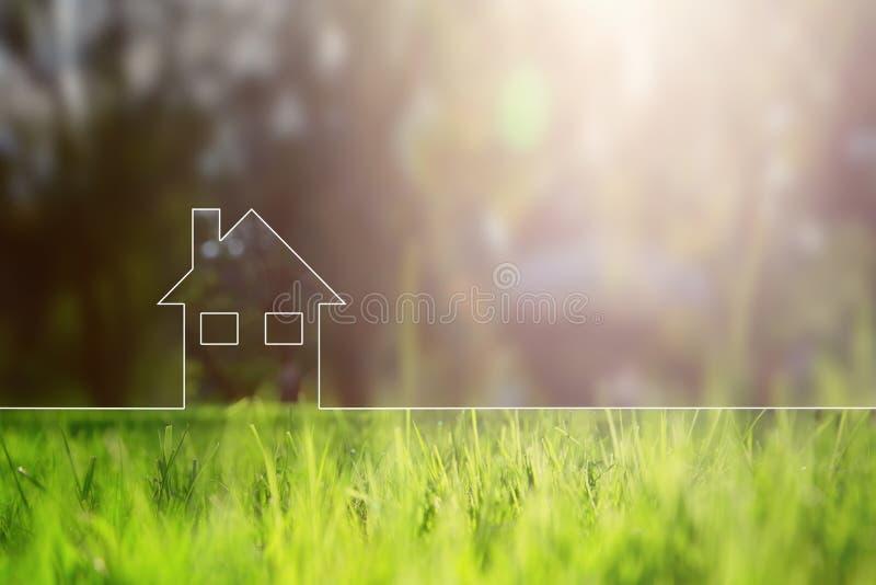 Vie saine de maison conceptuelle d'eco illustration de vecteur
