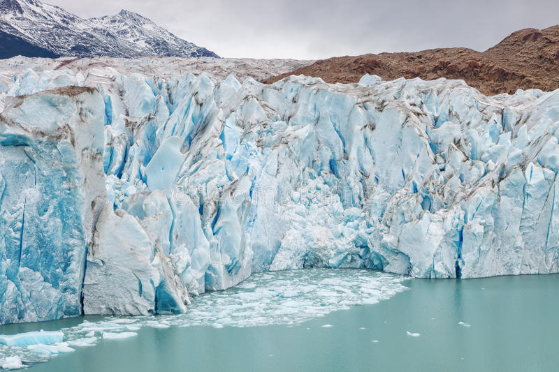 The Viedma Glacier, Patagonia, Argentina. The Viedma Glacier with its ice mass created the lake of the same name, Glacier National Park, Patagonia, Argentina royalty free stock images
