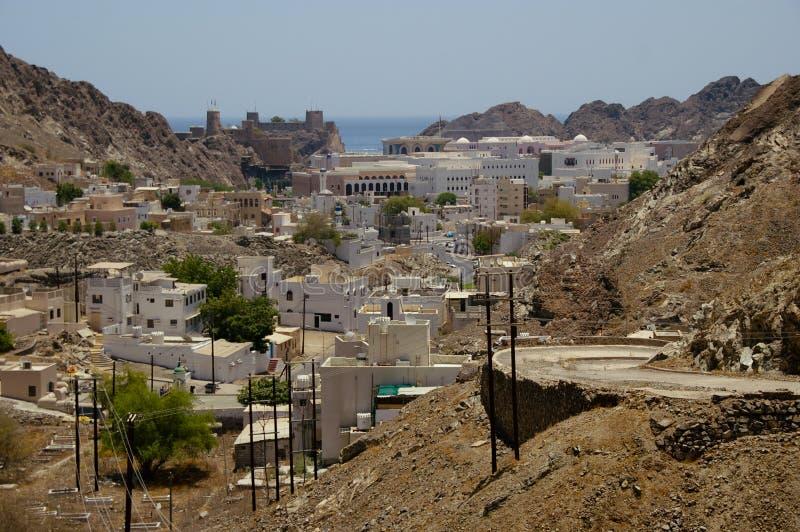 Vieew över Muscat, Oman arkivbilder