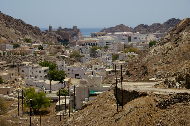 View over Muscat, Oman stock images