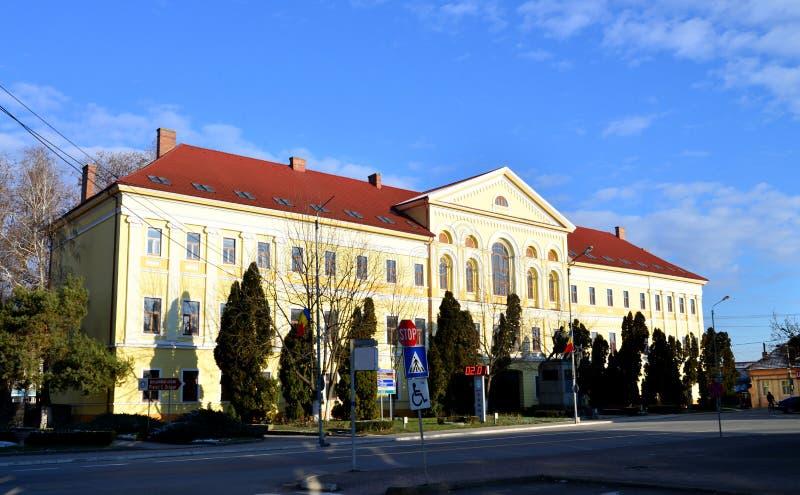 Vieil éditorial de préfecture de Lugoj image stock