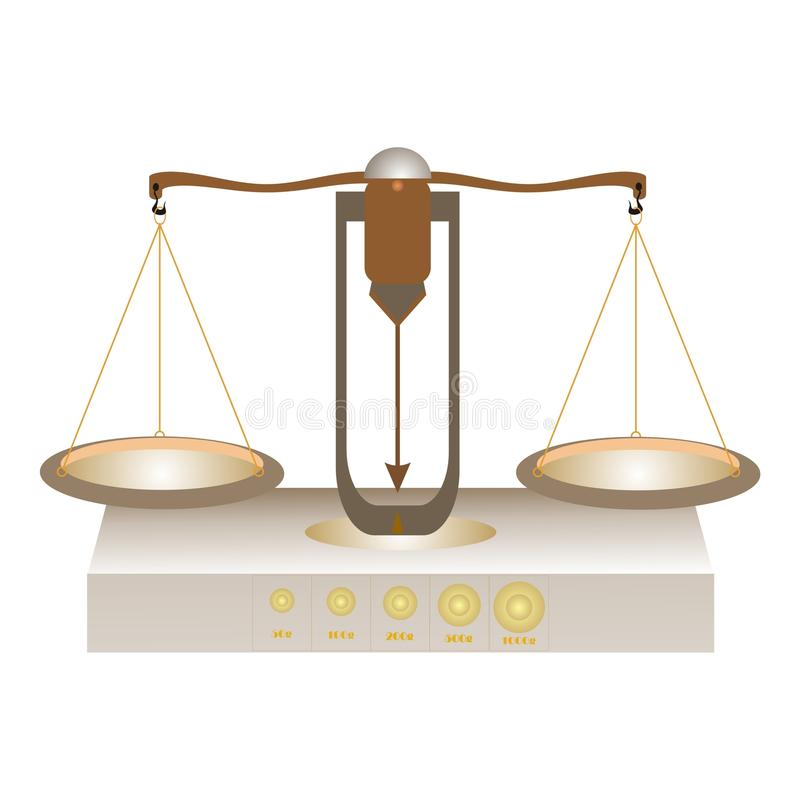 Vieil équilibre de Brown illustration de vecteur