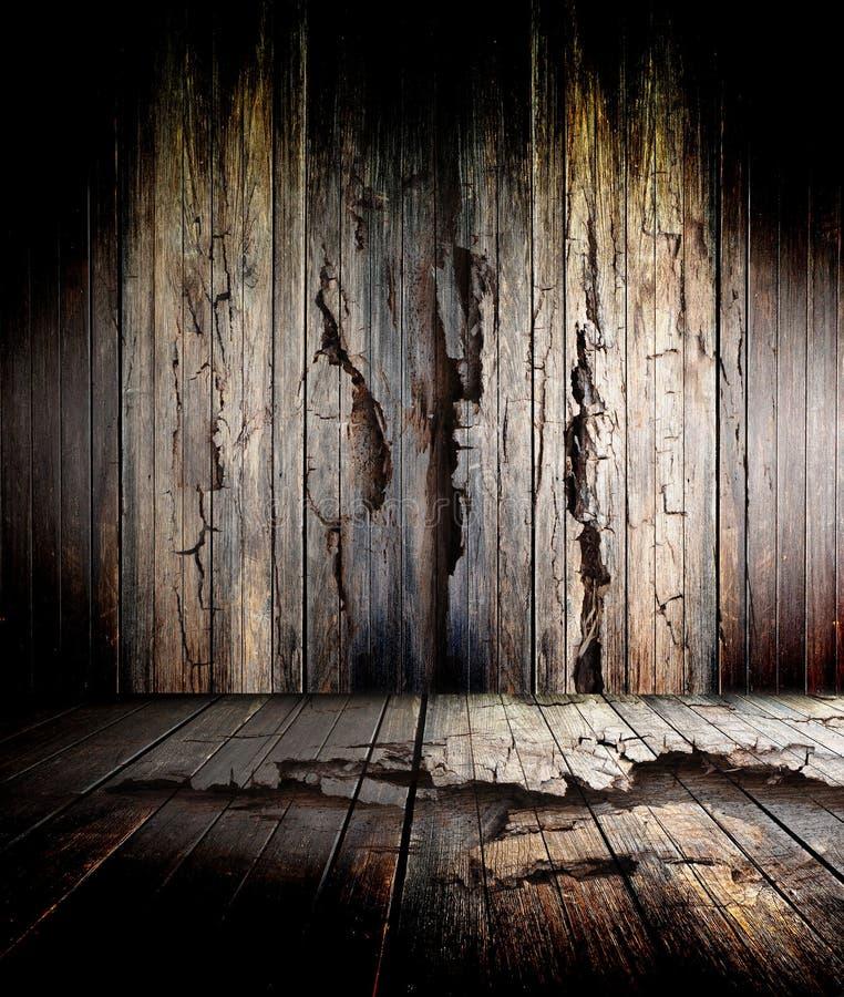 Vieil étage en bois illustration stock