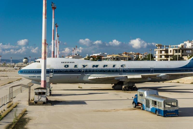 Vieil aéroport d'Eliniko Athènes image stock