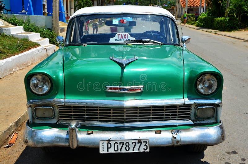 Vieil Américain Chevrolet au Cuba photos libres de droits