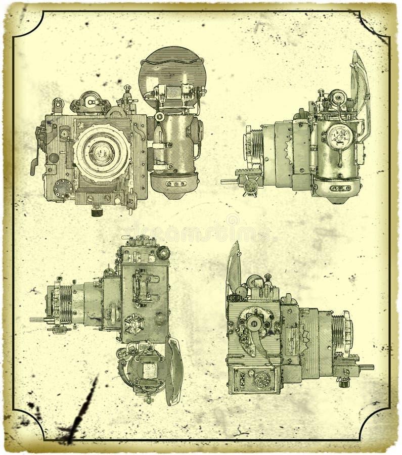 Vieil appareil-photo. illustration de vecteur