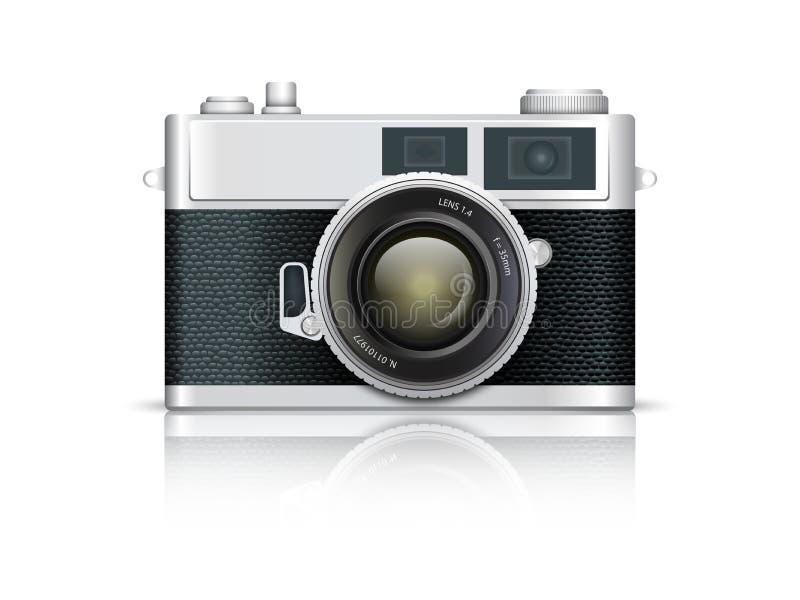Vieil appareil-photo illustration de vecteur