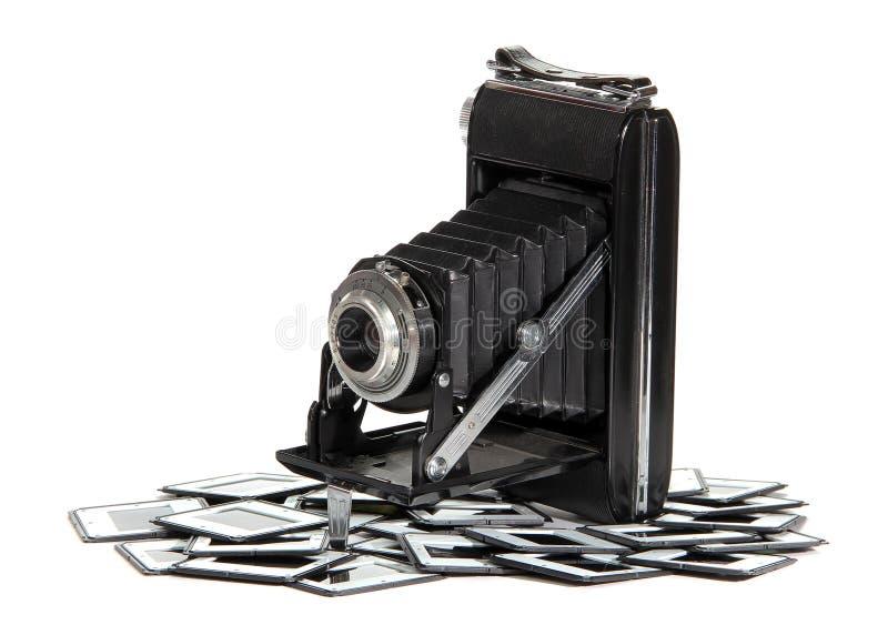 Vieil appareil-photo avec des trames de photo photo libre de droits