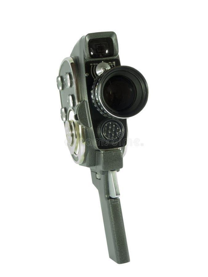 Vieil appareil-photo de film avec la lentille photo stock