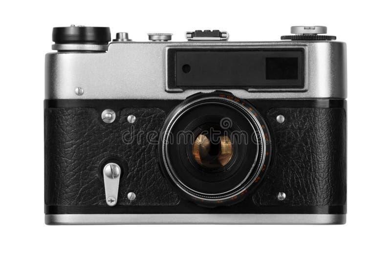 Vieil appareil-photo de film sur le fond blanc photo libre de droits