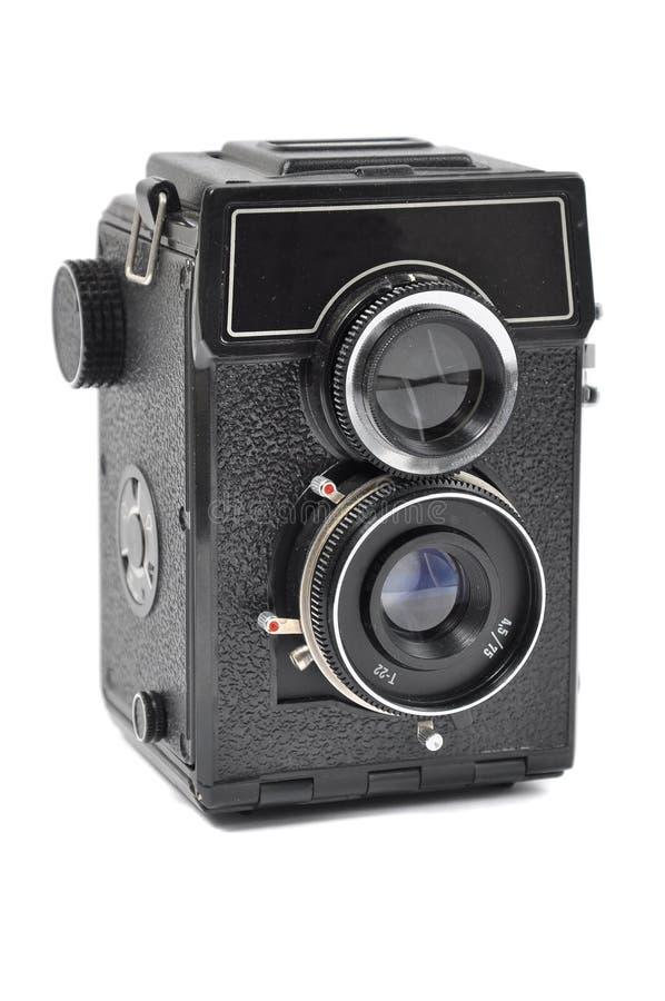 Vieil appareil-photo de moyen-format photographie stock