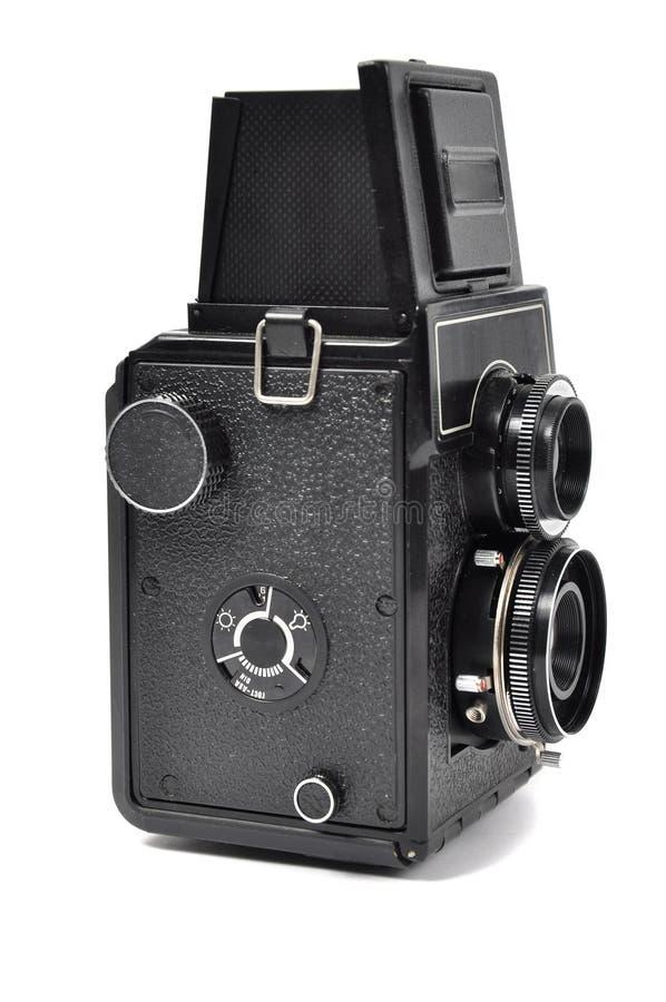 Vieil appareil-photo de moyen-format photo stock