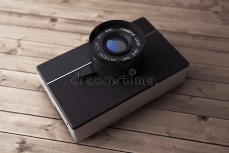 Vieil appareil-photo de photo de cru rendu 3d illustration de vecteur