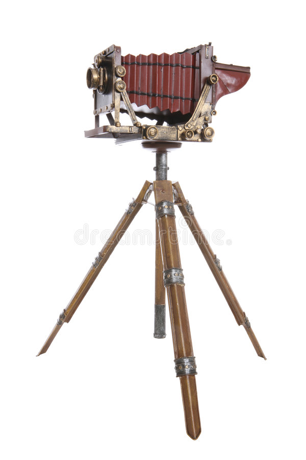 Vieil appareil-photo de professionnel de cru photographie stock libre de droits