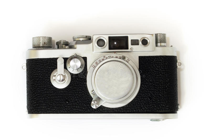 Vieil appareil-photo de télémètre d'isolement photos stock
