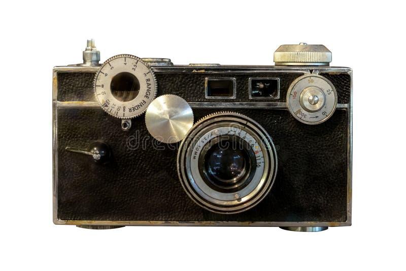 Vieil appareil-photo de télémètre d'isolement images stock