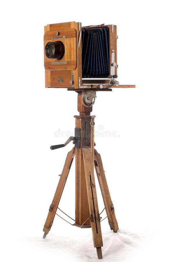 Vieil appareil-photo de trame en bois image libre de droits