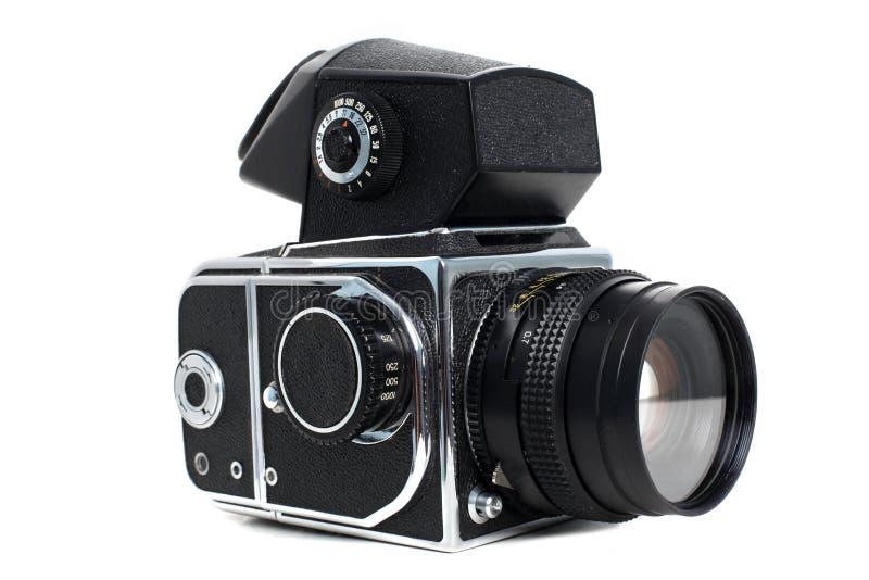 Vieil appareil-photo moyen de format photographie stock libre de droits
