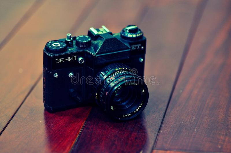 Vieil appareil-photo russe images stock