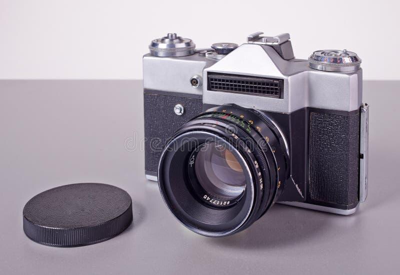 Vieil appareil-photo soviétique de SLR de film image libre de droits