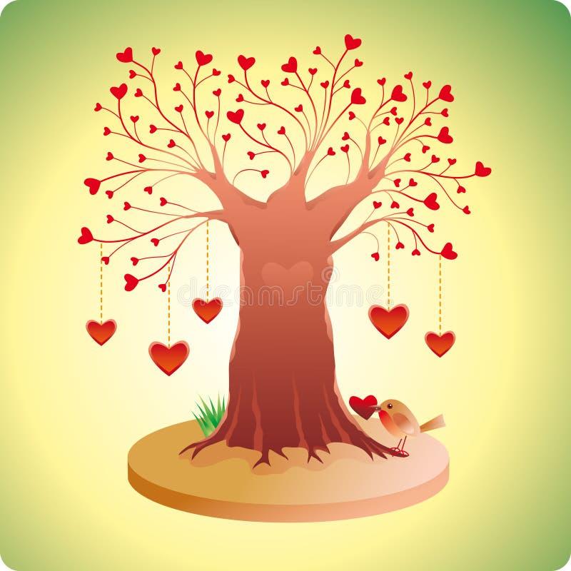 vieil arbre d'amour illustration libre de droits