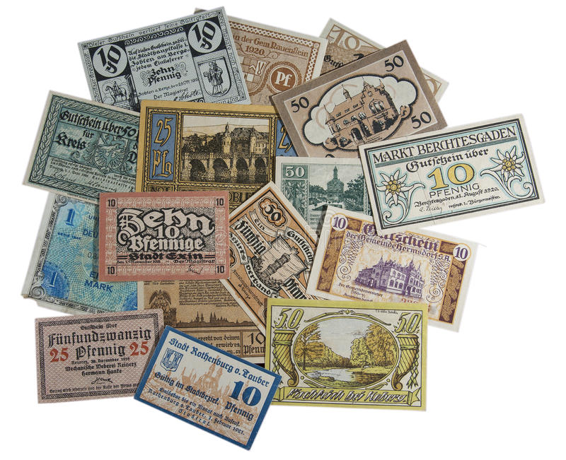 Vieil argent allemand images stock