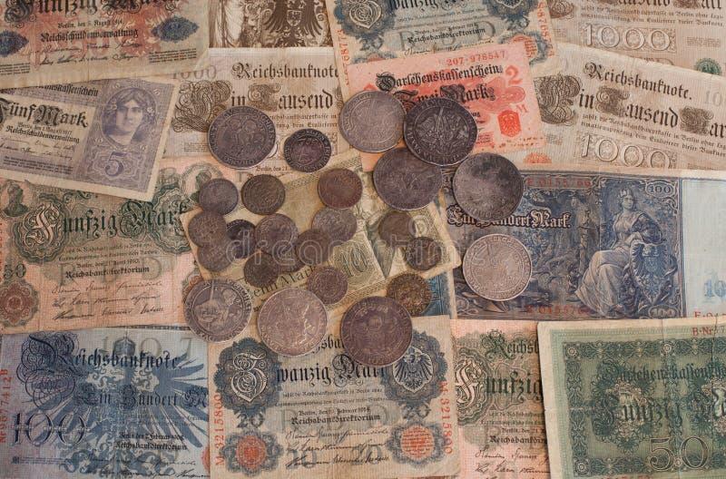 Vieil argent allemand photo libre de droits
