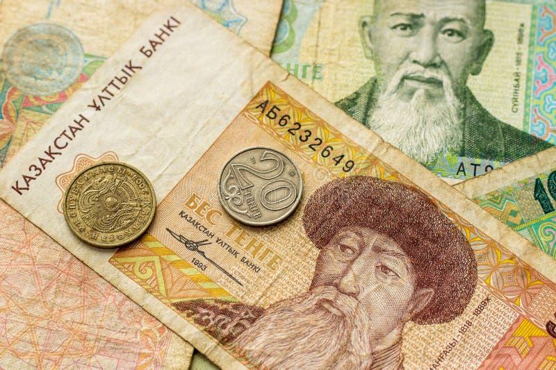 Vieil argent de Kazakhstan images stock