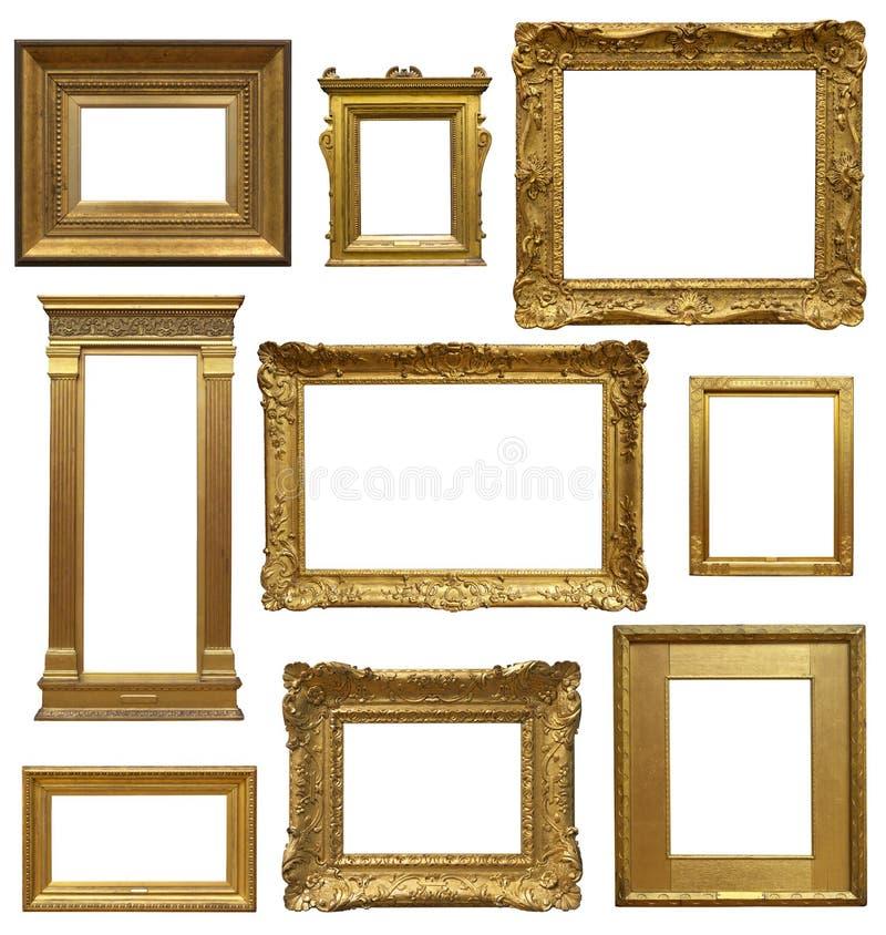 Vieil Art Gallery Frames photos libres de droits