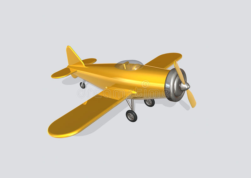 Vieil avion illustration stock
