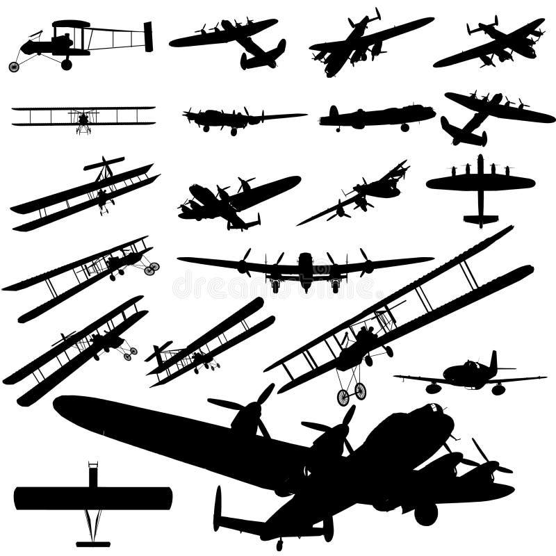 Vieil avion illustration de vecteur