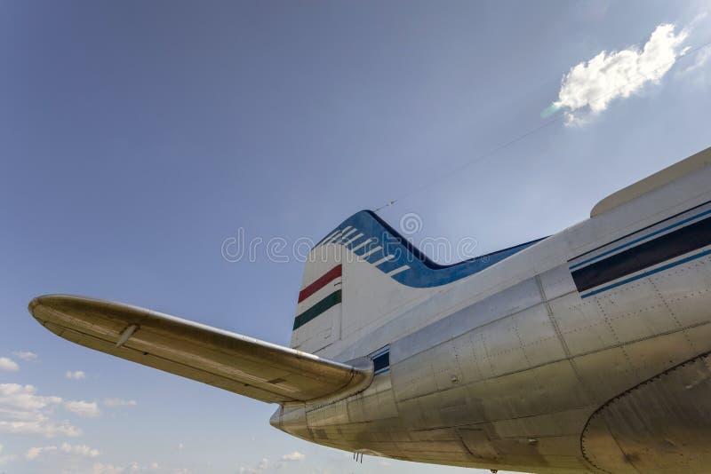 Vieil avion bimoteur soviétique images libres de droits