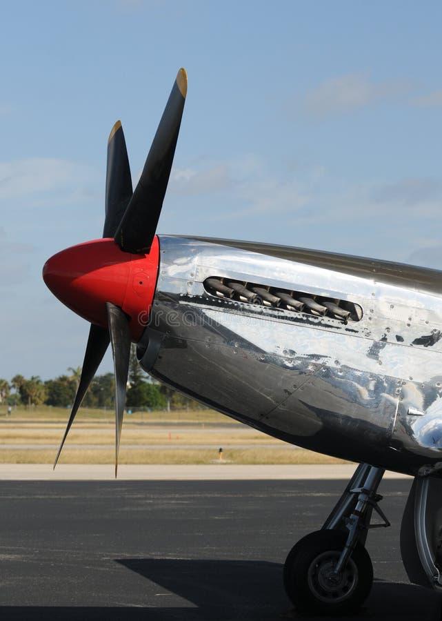 Vieil avion de combat photo libre de droits