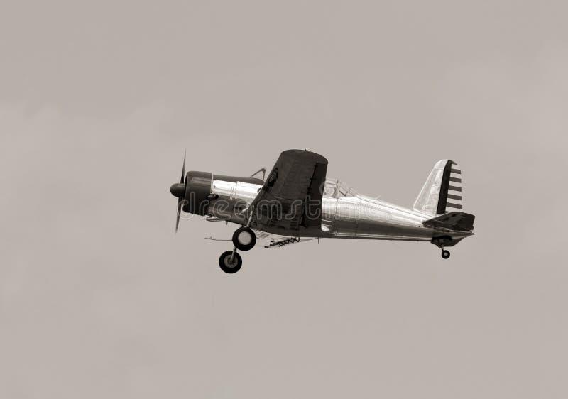 Vieil avion de propulseur photo stock