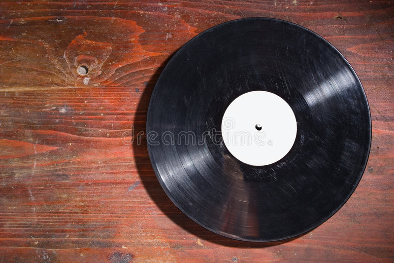 Vieil enregistrement de vinyle photographie stock libre de droits