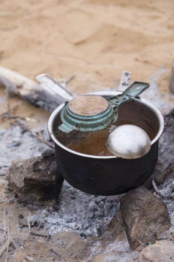 Vieil ensemble de pot de thé photos libres de droits