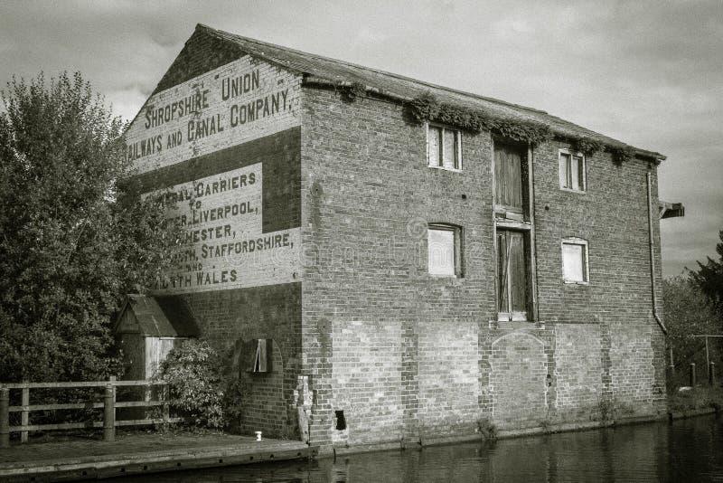 Vieil entrepôt à Ellesmere, Shropshire photos stock