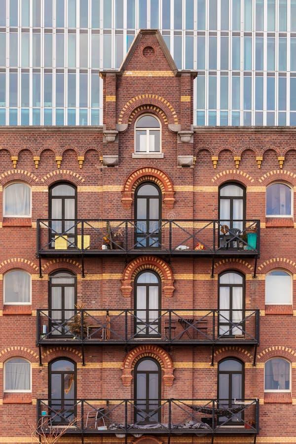 Vieil entrepôt néerlandais à Rotterdam image libre de droits